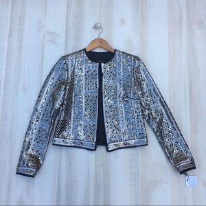 WORTH NEW YORK Sequined Cropped Jacket